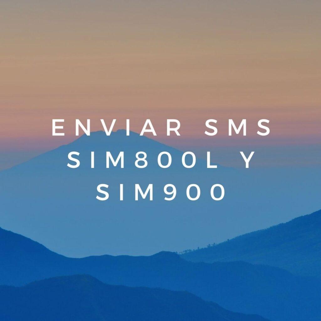 Enviar SMS SIM800l y SIM900
